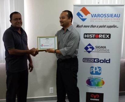 Varossieau Suriname NV  Dealer en Aannemer van het jaar 2013