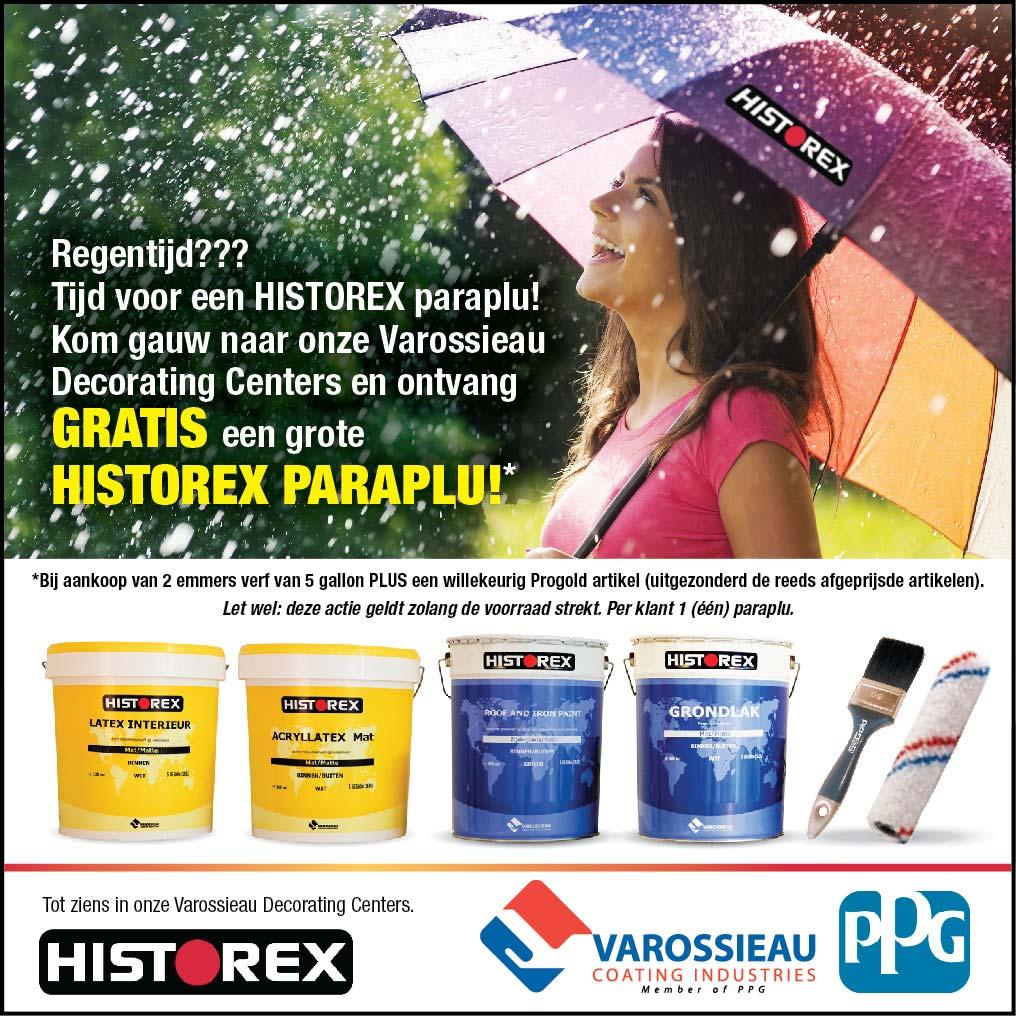 Gratis HISTOREX paraplu