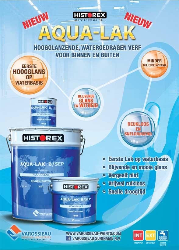 Aqua-Lak, glanzende lak op waterbasis